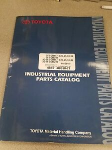 Toyota Forklift Parts Catalog Manual See Pictures For Included Models