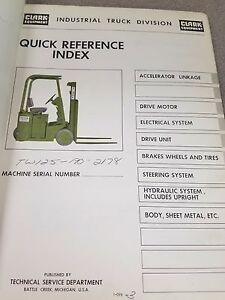 Clark Forklift Manual | Rockland County Business Equipment
