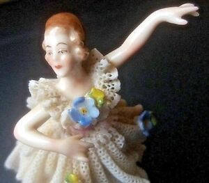 3 25 Vintage Lace Dancer Figurine Porcelain Ballerina