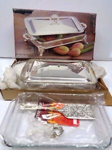 New Vintage International Silver Co Covered Serving Tray 18
