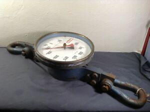 Industrial Crane Scale Huge Gauge Dial 10 5 Face 7 5 Shackles 2000kp Steampunk