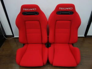 Upholstery Only Recaro Sr 3 Seats Red Fabric New 2 Seats
