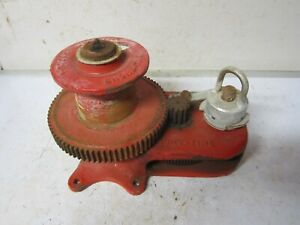 Chore Time Large 4 Spur Gear Hand Mechanical Winch W Brake Mounted Farm Shop