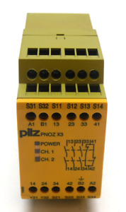 Pilz Pnoz x3 120vac 24vd Safety Relay Pnoz x3 774316