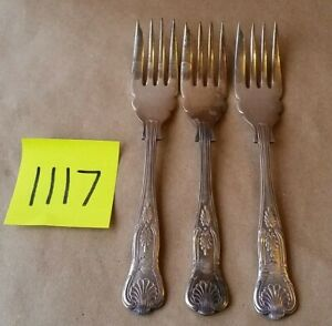 1 Fork Epns A1 Sheffield England Us Navy Kings Pattern Usn Fouled Anchor