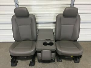 Ford F150 F250 F350 F450 Super Duty Front Seats Oem Gray Vinyal Never Used