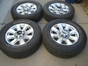 20 Ford F250 F350 Factory Wheels Rims Tires Polished Platinum