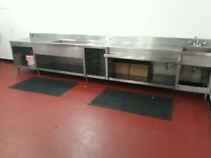 Stainless Steel 12 X 30 Heavy Duty Commercial Prep Work Table Used