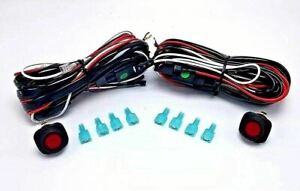 Nilight Off Road Atv Jeep Led Lightbar Wiring Harness 2 Leads 40amp Relay 2pack