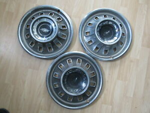 Hubcap 1967 67 Chevrolet Chevy Impala Belair Biscayne 14 Lot Of 3 X3 1904