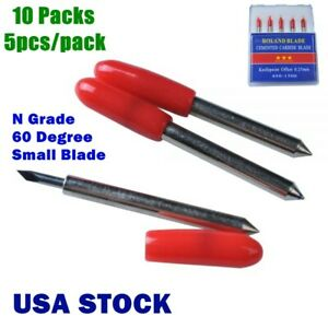 Us Stock 50pcs 60 Degree N Grade Small Roland Vinyl Cutter Compatible Blades