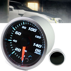 2 52mm Electronic Oil Press Pressure Gauge Meter 7 Colorz Model Digital Led
