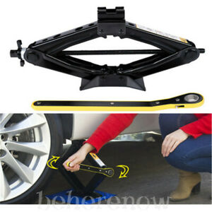 2 Ton Car Garage Tire Wheel Lug Wrench Scissor Jack Crank Speed Handle Lift Tool