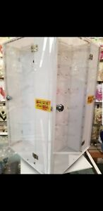 Pre owned Acrylic Jewelry Display Case Rotating Countertop Display Case