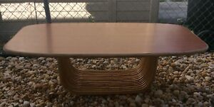 Vintage Ritts Co Tropitan Rattan Coffee Table