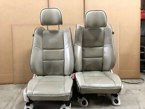 2014 Jeep Grand Cherokee Overland Front Leather Bucket Seats Tan