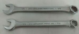 2 Challenger Proto Tools 12 Point Sae Combination Wrenches 7 16 1 2 Usa