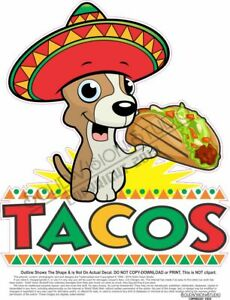 Tacos Concession Trailer Food Truck Mexican Restaurant Vinyl Weatherproof Decal