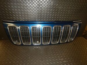 Jeep Grand Cherokee Wj 99 03 Blue Front Grill Grille Oem Free Ship