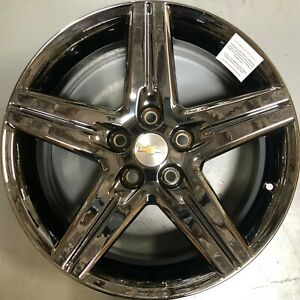 New 18 Inch 10 14 Chevy Camaro Oem Alloy Set Of 4 Black Chrome Wheels Rims 5439