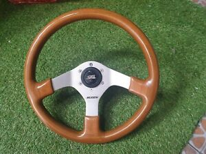 Rare Mugen Sw6 Wood Steering Wheel With Mugen Horn Ef9 Crx Ef8 Eg6 Delsol