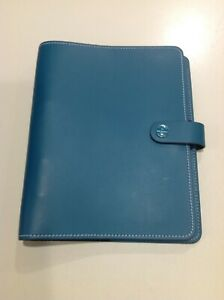 Filofax Organizer A5 Leather Classic Planner Binder Teal Blue 7 5x9 Inches Od