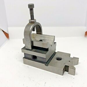 V block Machinist Tool Work Holding Block Starrett No 567 Fishtail Copy