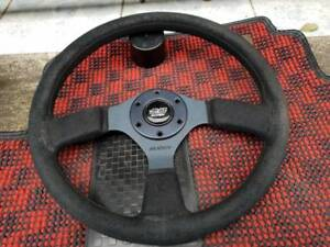 Rare Mugen Sw5 Steering Wheel With Mugen Horn Ring Ef9 Crx Eg