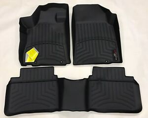 Weathertech Floorliner Mats For Nissan Altima 2016 2018 1st 2nd Row Black