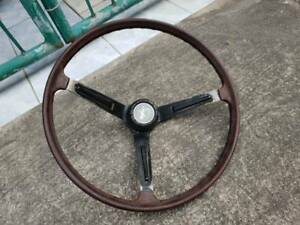 Rare Jdm Vintage Skyline Wood Steering Wheel