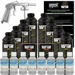 U Pol Raptor Dove Gray Urethane Spray On Truck Bed Liner Texture Coating 8 L
