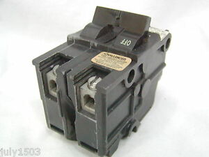 Challenger For Federal Pacific 50 Amp Hacr 2 Pole Breaker Stab Lok Thick