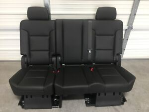 2007 2019 Tahoe Yukon Escalade 2nd Second Row Jet Black Bench Seat Complete