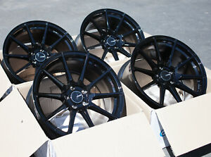 Used 18x9 5 Enkei Ts10 5x114 3 35 Black Rims Aggressive Fits Civic Accord Tl