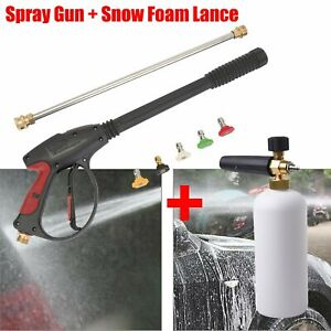 3000psi High Pressure Washer Spray Gun Nozzle Tips Set 1 4 Snow Foam Lance