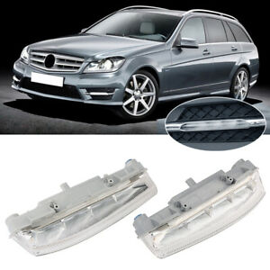 A Pair Drl Fog Lights Left Right For Mercedes Benz 204 W212 C250 C280 C350 E350