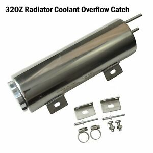 3 X 10 32oz Polished Stainless Steel Radiator Coolant Overflow Catch Tank Can