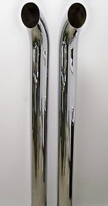 Polished Curved Top 304 Stainless Steel Stacks 5x44 Pair Scratch And Dent