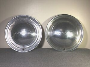 1949 1950 1951 1952 1953 Plymouth Dodge 15 Dog Dish Hubcaps Chrome 2