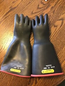 Salisbury Rubber Lineman Electrical Gloves Type 1 Class 2 17000v Size 9 1 2