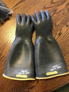 Salisbury Rubber Lineman Electrical Gloves Type 1 Class 2 17000v Size 9
