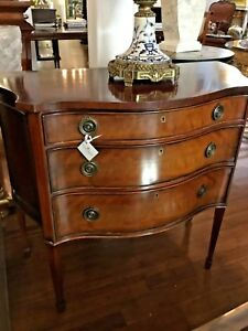 Antique Style Mahogany English Chest Of Drawers