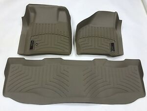 Weathertech Digitalfit Floorliner Ford Super Duty Supercrew 1999 2007 Tan