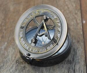 Nautical Solid Brass Compass Handmade Navigation Travels Pocket Compass Gift