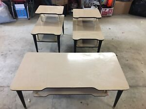 Mid Century Modern Vintage End Tables Coffee Table Laminate Formica