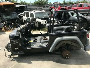 2000 Jeep Wrangler Tj Bare Tub With Roll Bar Cage Oem Body Floor Frame