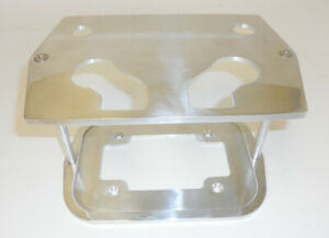 34 78 Polished Aluminum Smooth Top Group Optima Battery Tray Chevy Ford Mopar