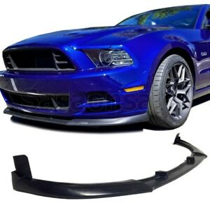 Made For 2013 2014 Ford Mustang V6 V8 Gt500 Style Pu Front Bumper Add On Lip