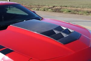 Zl1 Tl1 Style Carbon Fiber Hood Bonnet With Air Duct For 10 15 Chevrolet Camaro