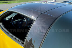 Factory Style Carbon Fiber Roof B Pillar Halo Cover For 05 13 Chevrolet Corvette